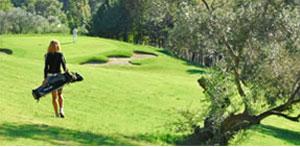 Dettaglio sul campo del Golf Club Vallugola
