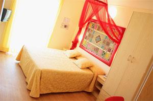 Dettaglio su camera dell'Hotel La Fenice