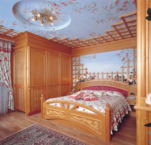 Dettaglio su camera delll'HOtel Letizia in Trentino