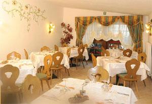 Dettaglio su ristorante dell'Hotel Crozzon in Trentino