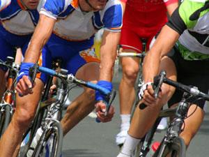 dettaglio su ciclisti a Fiuggi
