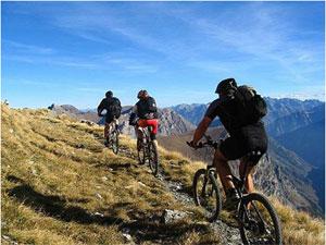 Dettaglio su percorso in bici a Fiuggi