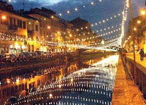 Dettaglio su i Navigli di Milano