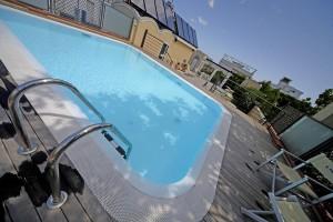 Dettaglio su piscina dell'Hotel Virginia a Rimini