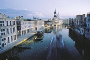 Dettaglio su riproduzione di Venezia all'Italia in Miniatura