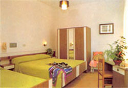 dettaglio su camera dell'Hotel Bruna a Cesenatico