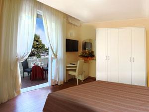 Camera dell'Hotel Plaza vista mare a Milano Marittima