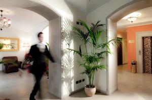 Hall dell'Hotel Oste del Castello a Rimini
