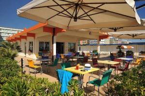 Spiaggia privata Hotel Ausonia a Milano Marittima