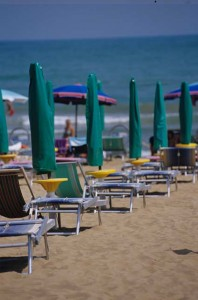 Spiaggia dell'Hotel Etna a Lignano Sabbiadoro
